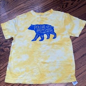 Juniors blue and yellow polo t-shirt
